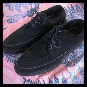 Zara men's black suede chunky sole oxfords